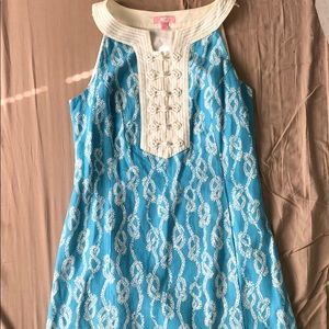 Lilly Pulitzer Size 8 Blue & White Rope Dress